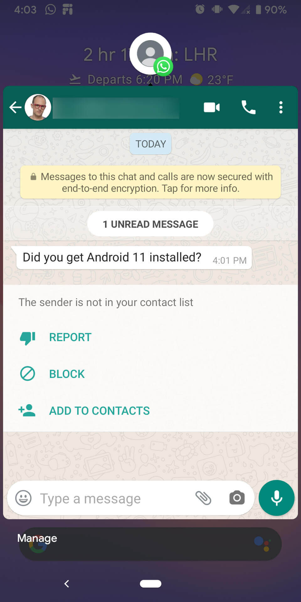 Chat bubbles in Android 11