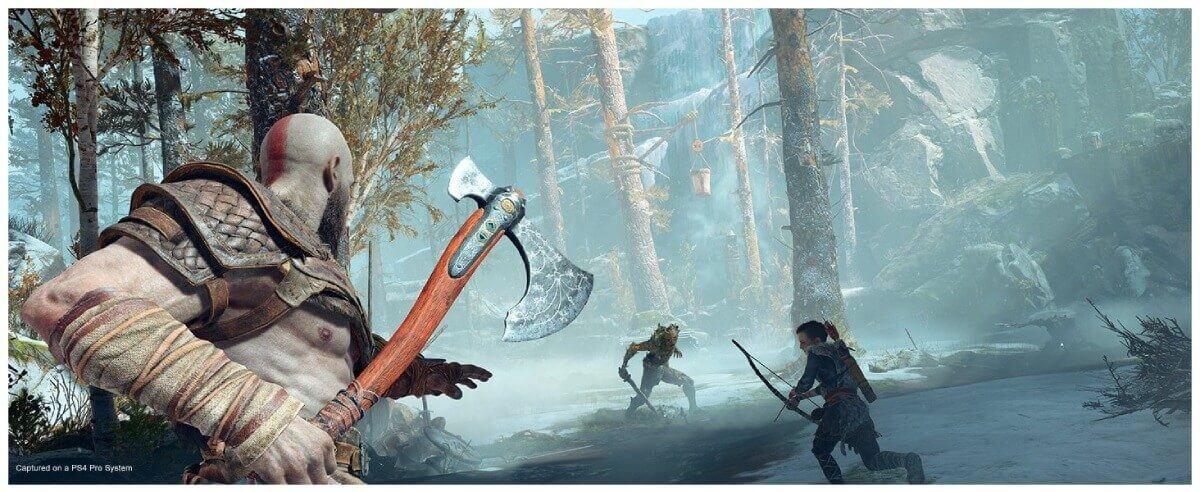 تحميل لعبة God of War 4 للاندرويد ppsspp بحجم صغير